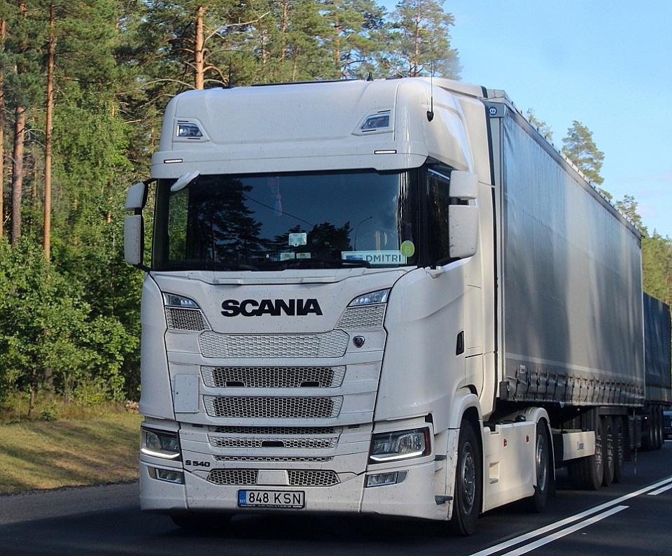 Седельный тягач Scania S 540 #848 KSN. Россия, Псковская область
