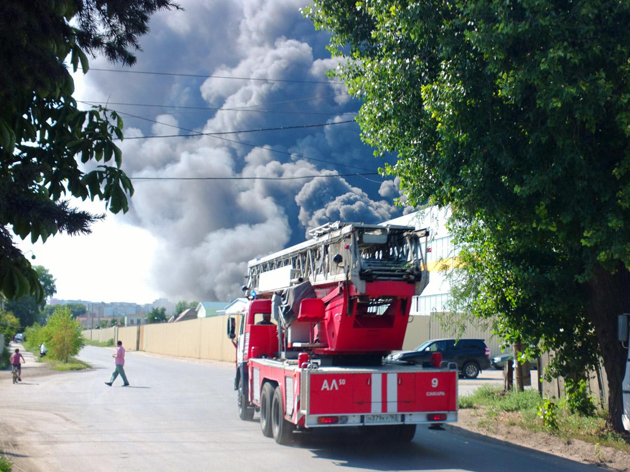 Автолестница пожарная АЛ-50 на базе КамАЗ-65115 #Н379КУ163. Самара, Прожекторная улица