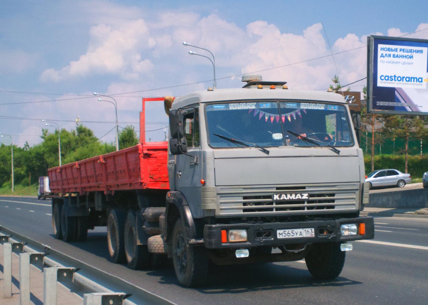 Седельный тягач на базе КамАЗ-5410 #М565УА163. Самара, Демократическая улица