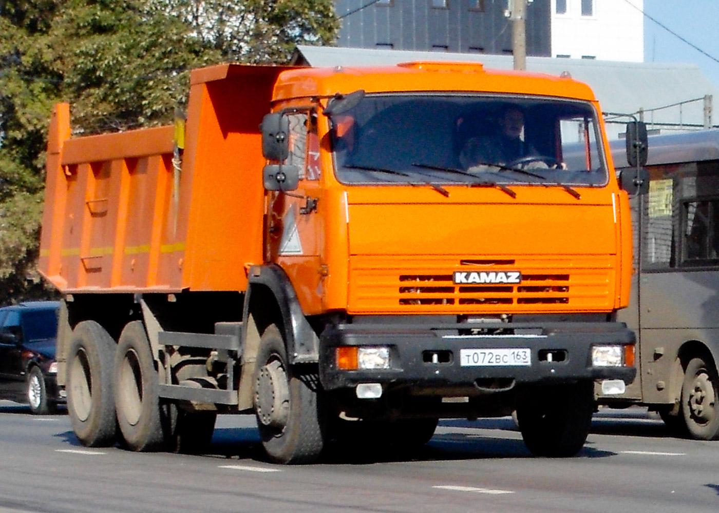 Самосвал КАМАЗ-65115 #Т072ВС163. г. Самара, ул. Авроры