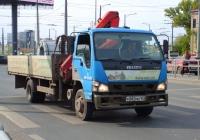 Бортовой грузовой автомобиль с КМУ на шасси Isuzu NQR #Р882МН163. г. Самара, Московское шоссе