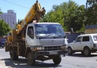 Автоподъемник AICHI на шасси Mitsubishi Canter #К691УК102. Самара, Партизанская улица