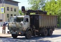 Ломовоз на шасси КамАЗ-53215 #М794ХВ63. г. Самара, ул. Партизанская