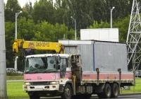 Бортовой грузовой автомобиль Hino Profia с гидроманипулятором#К154НЕ163. г. Самара, Московское шоссе