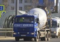 Автобетоносмеситель на шасси КамАЗ-65115 #Х743ОС163. г. Самара, Московское шоссе
