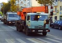 """Автокран """"Ульяновец"""" МКТ-25 на шасси КамАЗ-5320 #О856МО163. г. Самара, Полевая улица"""