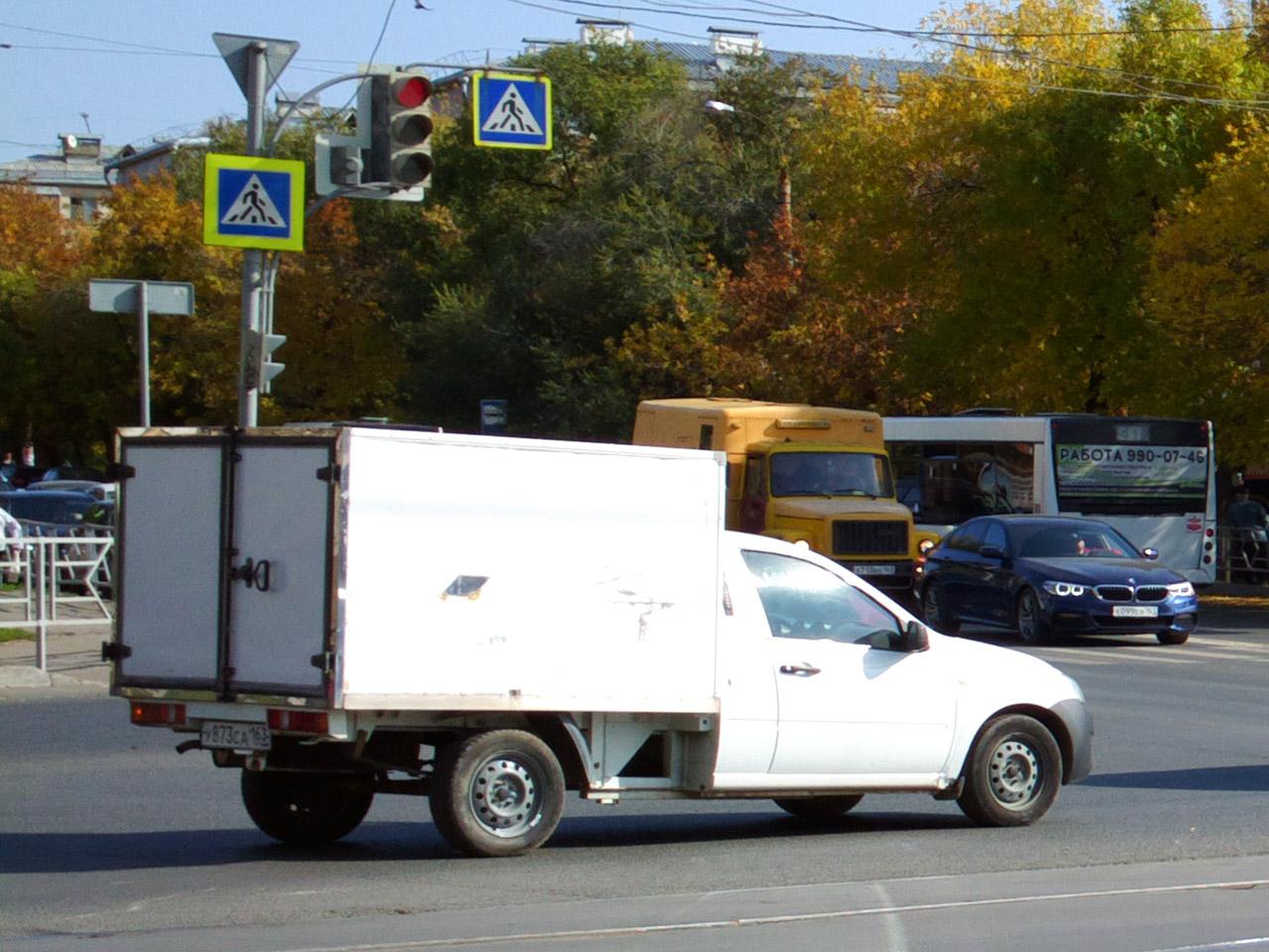 Фургон ВИС-2349 #У873СА163. г. Самара, ул. Киевская улица