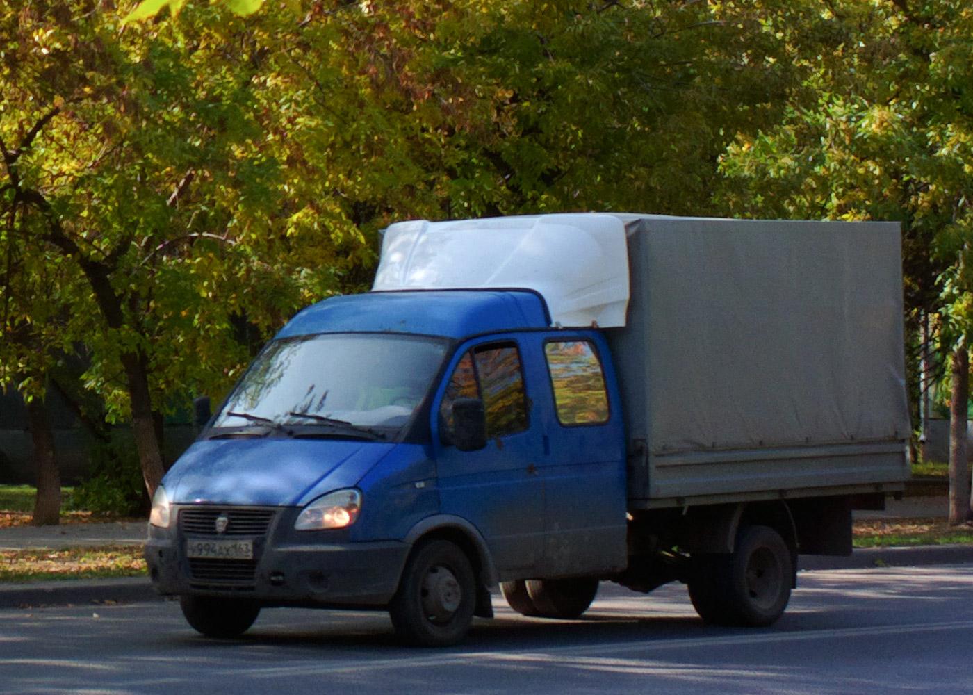 Бортовой грузовой автомобиль ГАЗ-33023-288 «Фермер» (2000) #У994АХ163. г.Самара, ул. Мориса Тореза