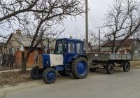 Трактор #844ТА с прицепом #090ТА. Приднестровье, Тирасполь, улица Фурманова