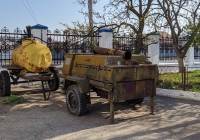 Бочка прицепная для кваса и кухня полевая КП-130. Приднестровье, Тирасполь, территория Покровской церкви