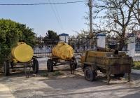 Бочки прицепные для кваса и кухня полевая КП-130. Приднестровье, Тирасполь, территория Покровской церкви