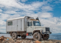 Фургон-автомастерская на шасси ГАЗ-3309, гос. №Р635АУ138RUS. Город Владивосток