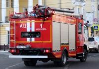 автомобиль противопожарной службы АЦ-1,0-40 на базе ISUZU NРS75L #А886РО76. г. Ярославль, ул. Первомайская