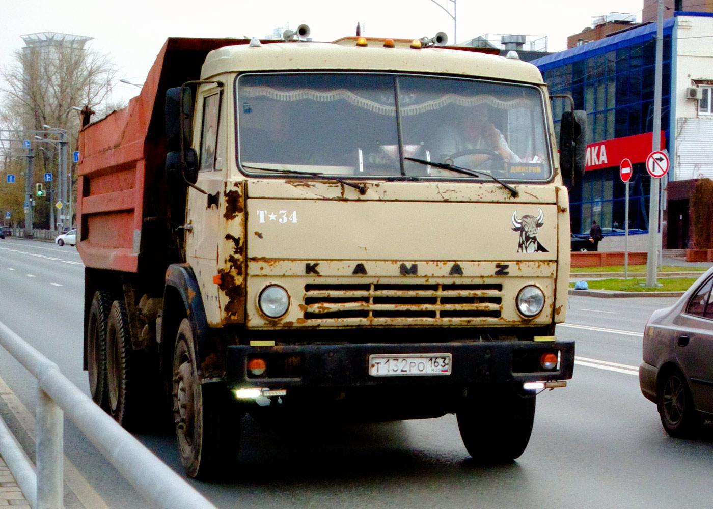 КамАЗ-55111 #Т132РО163. Самара, Московское шоссе