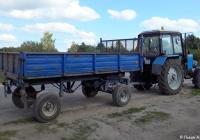 Трактор Беларус-82.1 #9178ТХ69 с двухосным прицепом. Россия, Тверская область, Удомля, Тверская улица