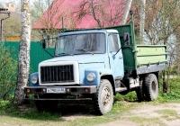 Самосвал ГАЗ-САЗ-3507-01 на шасси ГАЗ-3307 №В 790 ЕР 60. Псков, Ипподромная улица