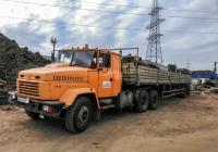 седельный тягач КрАЗ-6444 с полуприцепом. г. Самара, ул. Демократическая