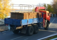 Бортовой грузовой автомобиль повышенной проходимости КамАЗ-43114 с кран-манипуляторным устройством #О035ТТ163. г. Самара, ул. Лесная
