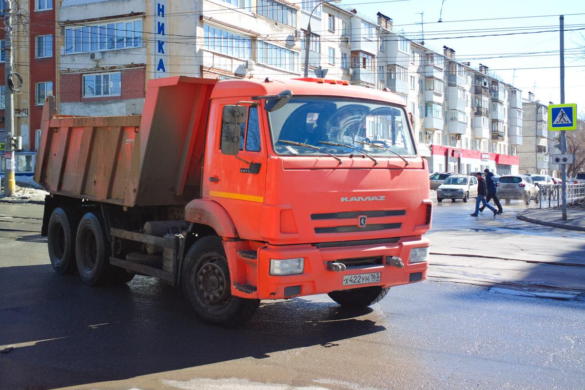 Самосвал КамАЗ-65115 #Х422УН163. г. Самара, ул. Партизанская