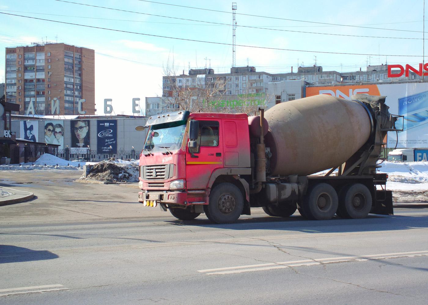 Бетоносмеситель на шасси Howo #Х250ВХ163. г. Самара, Московское шоссе