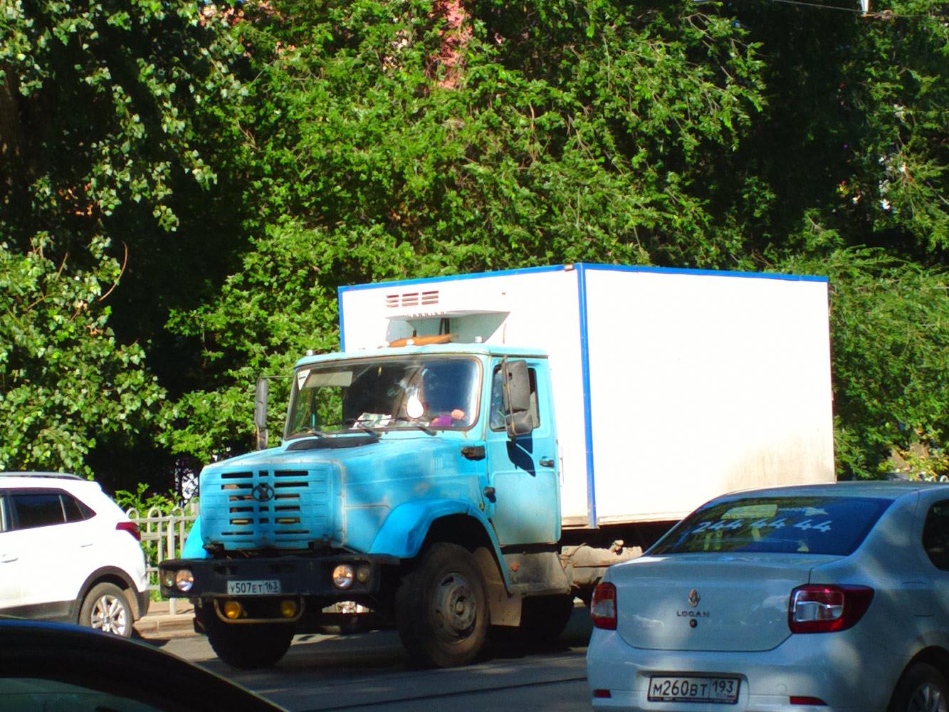 Рефрежираторный фургон на шасси ЗиЛ-4331  #У507ЕТ163. г. Самара, ул. Полевая