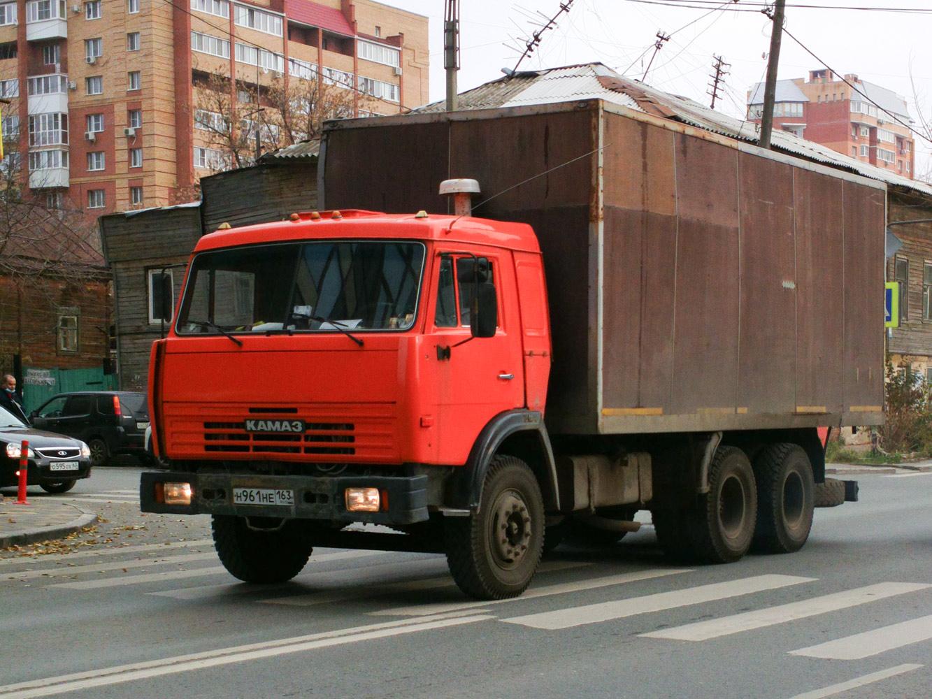 Фургон на шасси КамАЗ-5320 #Н961НЕ163. г. Самара, ул. Вилоновская