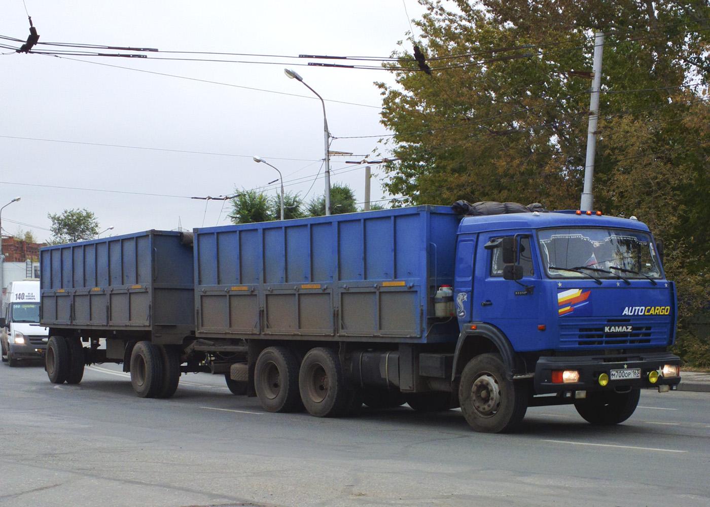 Сельскохозяйственный самосвал КамАЗ-53215 #М700ОУ163. Самара, ул. Главная