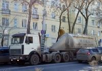 Седельный тягач МАЗ-6422 с полуприцепом-муковозом АСП-25 #С699СР163. г. Самара, Волжский проспект