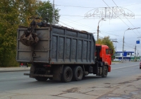 Ломовоз на шасси КамАЗ-53229 #У782НН163. г. Самара, ул. Главная
