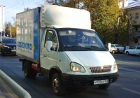"Фургон на шасси ГАЗ-3302-288 ""Газель-Бизнес"" #У935ВУ163. Самара, Московское шоссе"