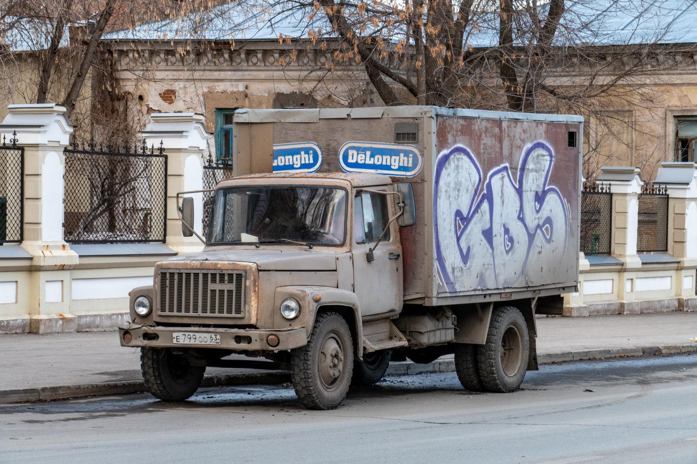 Фургон на шасси ГАЗ-3307 (шасси) #Е799ОО63. г. Самара, ул. Пионерская