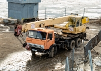 Автокран КС-4572 на базе КамАЗ-5320 (шасси) #К908АУ763. г. Самара, ул. Комсомольская