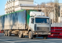 Седельный тягач МАЗ-5432 #С712ОН163. г. Самара, площадь им. В. В. Куйбышева