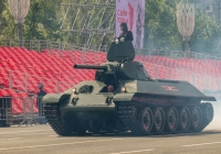 танк-копия танка Т-34-76 образца 1941 года парадного расчета. г. Самара, пл. им. В. В. Куйбышева