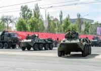 Бронетранспортер БТР-82 парадного расчета. г. Самара, пл. им. В. В. Куйбышева