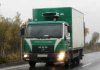Изотермический фургон MAN LE 2000 8.145 LC #Н 741 МУ 51. Мурманская обл., трасса Р-21 Кола