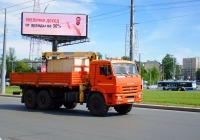 Бортовой грузовой автомобиль повышенной проходимости КамАЗ-43114 с кран-манипулятором #В928ВС82. г. Самара, Московское шоссе