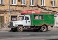 Вахтовый автобус ТС-3966 на шасси ГАЗ-3307 #Е642ХЕ163. г. Самара, ул. Венцека