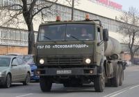 Автогудронатор ДС-142Б на шасси КамАЗ-53212 #Н043КА60. г. Псков, ул. 128-ой Стрелковой Девизии