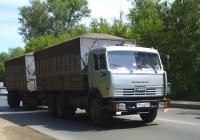Сельскохозяйственный самосвал КамАЗ-55102 с прицепом ГКБ-8352 #Х732ММ163. г. Самара, ул. Народная