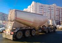 Седельный тягач МАЗ-6422 #Х802ОР163, полуприцеп для перевозки сыпучих грузов #АХ088963. г. Самара, ул. Партизанская