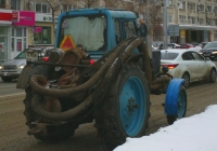 Трактор МТЗ-80* с насосом для откачки канализационных сооружений#0768СЕ63. г. Самара, ул. Мичурина