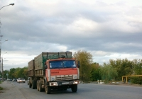 Сельскохозяйственный самосвал КамАЗ-55102 с прицепом ГКБ-8352 #А971АК163. г. Самара, ул. Народная