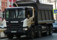 Самосвал SCANIA P440B8x4HZ #А155ХС763. г. Самара, ул. Киевская