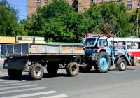 Прицеп 2ПТС-4 #3712СХ63, трактор-погрузчик МТЗ-80*  #3705СХ63. г. Самара, ул. Партизанская