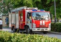Автомобиль пожарный спасательный АПС 1,0-40/4 (NPR75L) на шасси ISUZU NPR75L #А710ОВ763. г. Самара, ул. Полевая