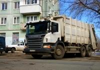 Автомобиль для перевозки твердвых бытовых отходов Zoeller  на шасси Scania P360* #У733ТН163. г. Самара, ул. Дзержинского