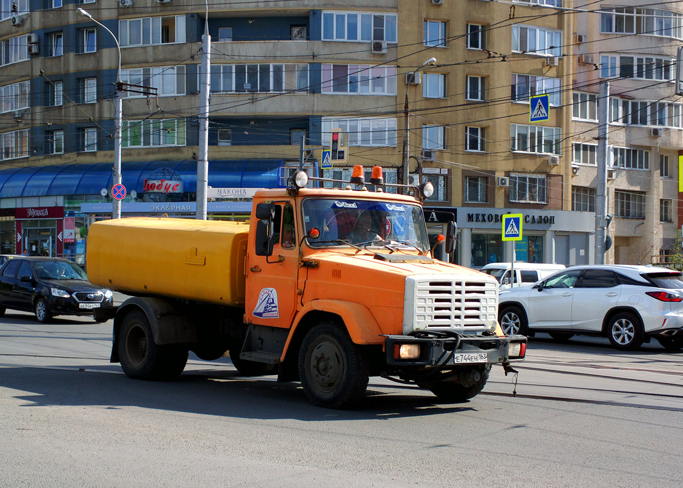 Поливомоечная машина КО-713 на шасси ЗиЛ-433362 #Е744ЕН163. г. Самара, ул. Полевая