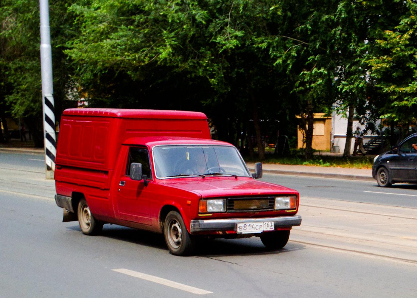 Цельнометаллический фургон на базе пикапа ИЖ-27175 #В814СР163. г. Самара, ул. Полевая