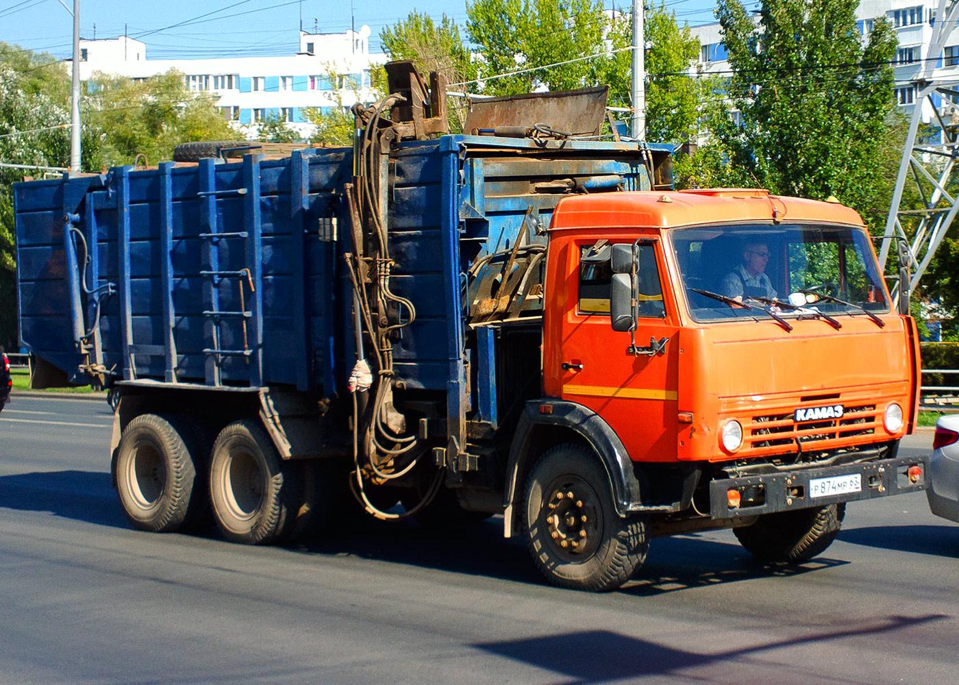 Машина для перевозки ТБО КО-415А на шасси КамАЗ-5320 #Р874МР63. г. Самара, Московское шоссе